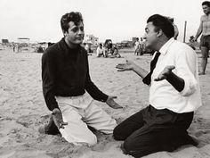 Marcello Mastroianni & Federico Fellini