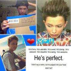 He is perfect!!! I wish I could meet him one day!(I know I never will)