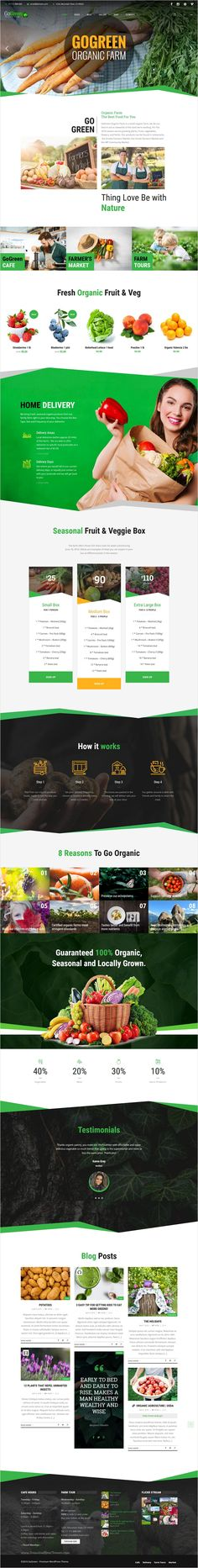 GoGreen is a responsive #WordPress #theme for #organic #farming business, organic #food & cafe as well as any other business websites download now➩ https://themeforest.net/item/gogreen-business-wordpress-theme/16966736?ref=Datasata