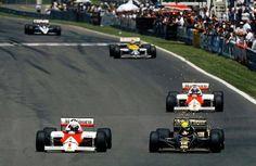Prost (McLaren) vs Senna (John Player Special Lotus) 1986.