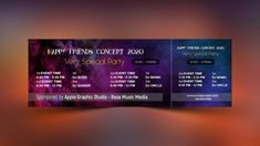 Design a Creative Event Ticket - Photoshop Tutorial - Apple Graphic Studio Ticket Design, Background Design Vector, Cool Business Cards, Photoshop Tutorial, Textured Background, Event Ticket, Graphic Design, Creative, Apple