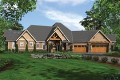 This craftsman design floor plan is 5155 sq ft and has 4 bedrooms and has 3.5 bathrooms. Built In Desk, Built Ins, Built In Wine Cooler, Huge Houses, Craftsman Style House Plans, Great Rooms, Living Room Designs, Bungalow, Floor Plans