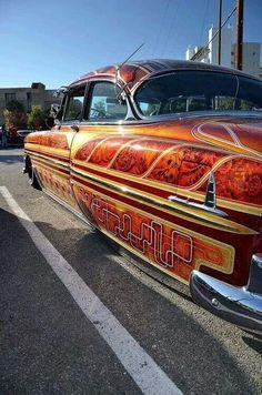 Lowrider with custom paint