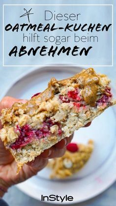 And so healthy: This oatmeal cake for breakfast even helps you with . Und so gesund: Dieser Oatmeal Kuchen zum Frühstück hilft dir sogar bei… Delicious! And so healthy: this oatmeal cake for … - Clean Eating Snacks, Healthy Snacks, Healthy Recipes, Snacks Recipes, Healthy Cake, Eat Healthy, Food Cakes, Breakfast Desayunos, Breakfast Recipes