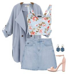 """""""pale blue/pink"""" by tapping-raven ❤ liked on Polyvore featuring Turner & Tatler, New Look, AG Adriano Goldschmied and Steve Madden"""