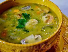 Sopa Cremosa de Grão de Bico ~ Veganana