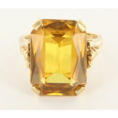 Estate Vintage 14 Karat Yellow Gold Topaz Cocktail Ring | Portero Luxury Sparkly Jewelry, Vintage Jewelry, Antique Jewelry, Topaz Ring, Cocktail Rings, Jewelery, Candle Holders, Girly, Sparkle