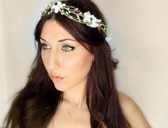 Bridal Wreaths Hair | ... Wedding Tiara, Bridal Hair Wreath, head wreath, fairy, woodland