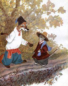 Ivan Bilibin, Illustration Art, Book Illustrations, Red Fox, Folklore, Fairy Tales, Russia, Painting, Vintage