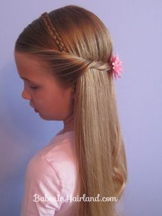 Braided Headband for Any Age tutorial on the Babes in Hairland blog using the Pink Pom Gimme Clip.