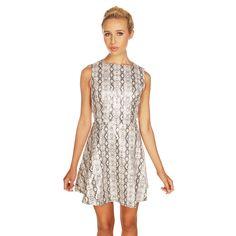 Lavish Alice PU Snake Skin Skater Dress £55