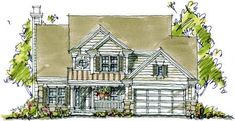 Bungalow Country Elevation of Plan 97937