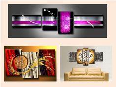 #CasasAMP ¿Qué tipo de cuadros modernos puedo poner en mi sala? Hay varias opciones, pero los que se están usando actualmente, son los modulares verticales, horizontales o combinados, este tipo de cuadros le darán un sentido modero a la estancia. www.casasamp.com