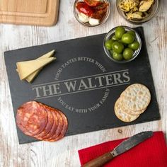 Personalised Family Slate Serving Platter