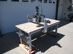 Neal's x Machine Cnc Projects, Cnc Machine, Power Tools, Drafting Desk, Robotics, Workshop, Design Ideas, Furniture, Home Decor