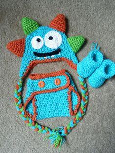 Crochet el monstruo tonto con Set de por DarlingBabyCreations