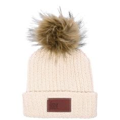 fb088bff062 Love Your Melon Burgundy Beanie with Natural Pom