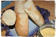 Knuspriges Polenta-Baguette - Bee Creative Polenta, Baguette, Creative, Bread, Recipes