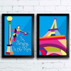 Kit de Quadros Decorativos Pop Art www.encadreeposters.com.br