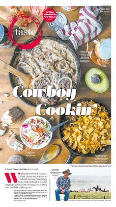 The Heart of Cowboy Cookin'|Epoch Taste #Food #newspaper #editorialdesign