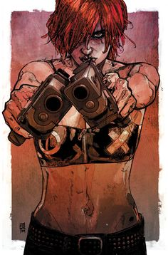 Scarlet by Alex Maleev #comicgirl Pin and follow @Pyra2elcapo