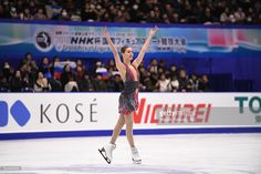 Anna Pogorilaya of Russia (gold) poses afte skate in the Ladies free skating during the ISU Grand Prix of Figure Skating NHK Trophy on November 26, 2016 in Sapporo, Japan.