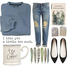 so cute! tbh miss my boyfriend jeans should invest in some so i can pair with comf sweater and cute flats