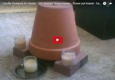 Funny pictures about How To Quickly Make A Heater With Just Candles And Plant Pots. Oh, and cool pics about How To Quickly Make A Heater With Just Candles And Plant Pots. Also, How To Quickly Make A Heater With Just Candles And Plant Pots photos. Candle Heater, Diy Heater, Homemade Heater, Garage Heater, Diy 2019, Candle Power, Diy Candles, Prices Candles, Ideas Candles