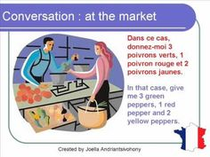 French Lesson 66 - Shopping - Buying food at the market - Dialogue Conversation + English Subtitles - YouTube