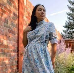 Look at Josie's beautiful #honeycombdress! #cocowawapatterns #sewing Pdf Sewing Patterns, Dress Patterns, Shirt Dress Pattern, Bodice, Wrap Dress, Peplum, Casual, Shirts, Beautiful