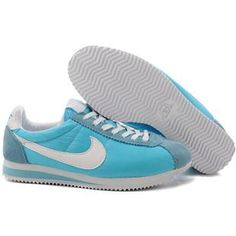 http://www.asneakers4u.com/ Men Nike Cortez Oxford Cloth Shoes Light Blue White