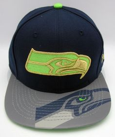 NFL Seattle SEAHAWKS Foil Pop Reflective Strapback Buckle Cap Hat NEW ERA  9FIFTY  NewEra  SeattleSeahawks f73f9a13ed1