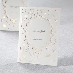Pink Gold Foiled Floral Laser Cut - Wedding Invitations by B Wedding Invitations