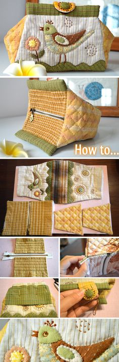 Rate this post Folding Bag Tutorial. Patchwork and Quilting Fabric Crafts, Sewing Crafts, Sewing Projects, Patchwork Bags, Quilted Bag, Patchwork Quilting, Bag Patterns To Sew, Sewing Patterns, Tote Pattern