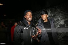 Luke James and August Alsina attend the Rick Ross 'Mastermind' Listening Event at New World Stages on February 11, 2014 in New York City.