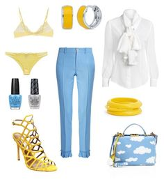 """Clouds in my bag..."" by dtlpinn on Polyvore featuring Mark Cross, Steve Madden, Gucci, Blugirl, OPI, BERRICLE and ZENZii"