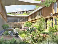 Herzog & de Meuron Wins Bid to Design Nature-Infused Hospital in Denmark Love the concept of incorporating gardens into architecture, both through rooftop gardens and terraces and courtyards Healthcare Architecture, Hospital Architecture, Green Architecture, Healthcare Design, Landscape Architecture, Landscape Design, Architecture Design, Building Architecture, Sustainable Architecture