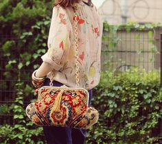 navy,red with floral by tinytoadstool by shan shan, via Flickr