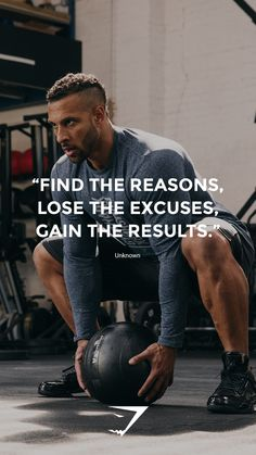 """""""Find the reasons, lose the excuses, gain the results"""" - Unknown. #Gymshark #Quote #Motivational"""