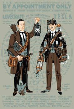 Travis Pitts' H.P. Lovecraft and Nikola Tesla: Paranormal Investigators. I WISH this was a real movie!