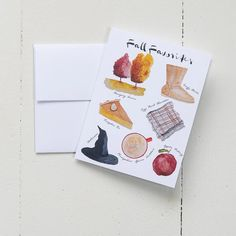 Fall Favorites Note Card Set (Box of 8) - pretty fall stationery | Finding Silver Pennies | Finding Silver Pennies #watercolorinspiration #fallinspiration #fallnotecards