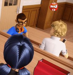 Anyone else notice how Adrien looks at Marinette. Then when her head turns toward him he looks away