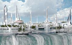Floating city by jfliesenborghs.deviantart.com on @DeviantArt