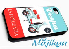 Vespa Vintage Poster Case For Your iPhone 4/4s, iPhone 5/5s, iPhone 5c, Galaxy S3, Galaxy S4, Galaxy S5, Custom