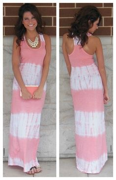 Summer fashion. Love the dress, I would also pair this with a cropped denim jacket, or a short sleeved cardigan.