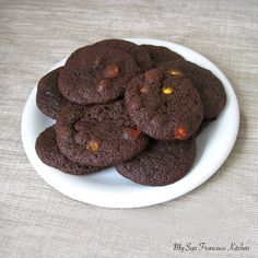 Chocolate Reese Pieces Cookies