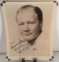 JOHN CHARLES THOMAS Autographed SIGNED 1930's Photo Baritone METROPOLITAN OPERA in Entertainment Memorabilia, Autographs-Original, Music   eBay