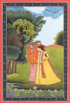 Radha and Krishna from the Gita Govinda.  Now this is a truly beautiful love story.  I would like to thank my college professor for showing the beauty of the Indian Religion.