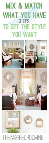 Mix & Match Furniture to Get the Look you Want