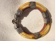 old ivory,silver bracelet from india